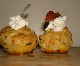 Mini Bacon Herb And Cream Cheese / Muffins