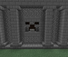 How To Build A Cool Ancient Looking Creeper Face In Minecraft PE