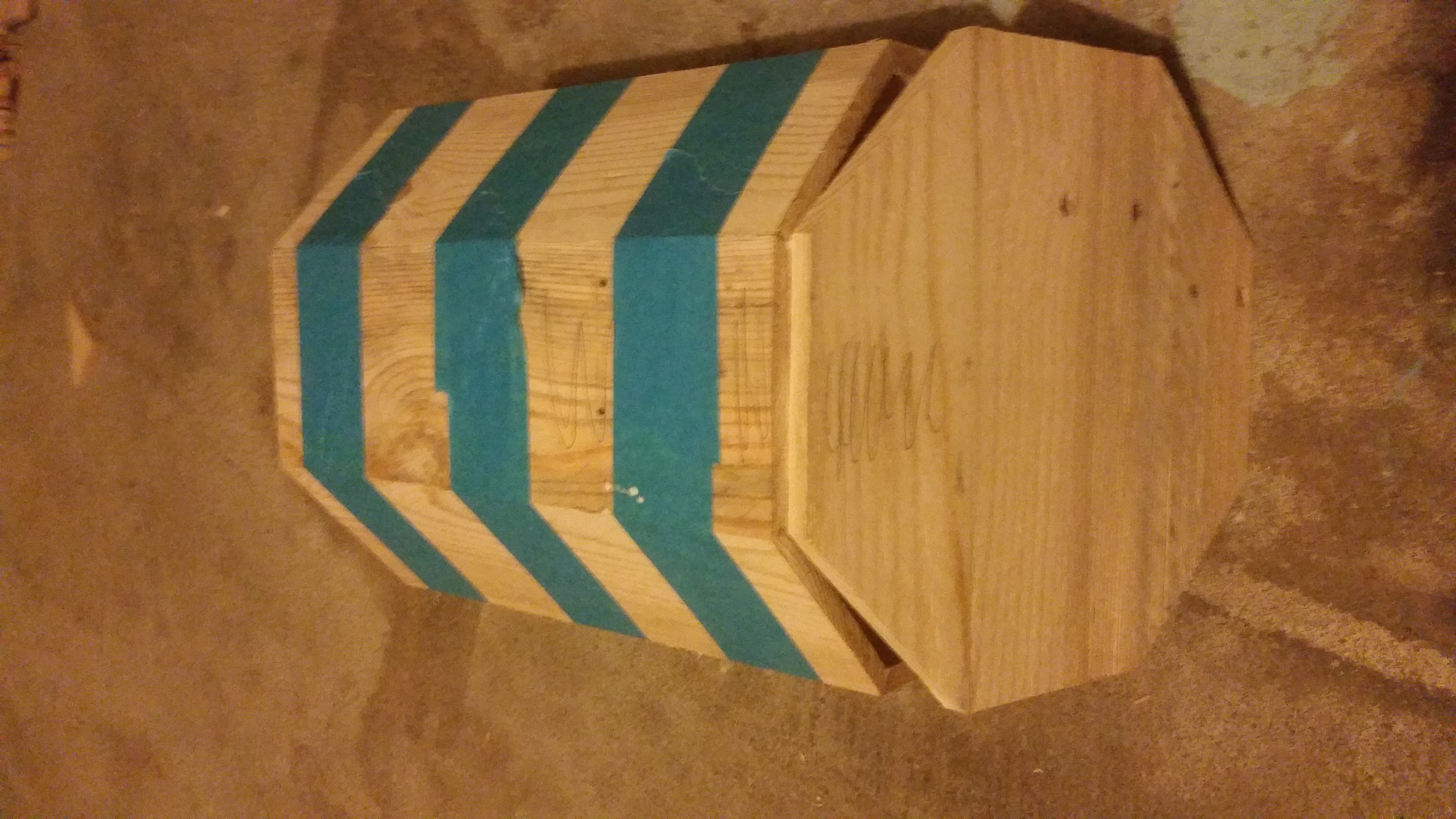 Picture of Step 8: Prep and Stain Inside of Bin