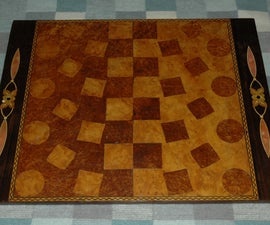 Non-linear marquetry chessboard