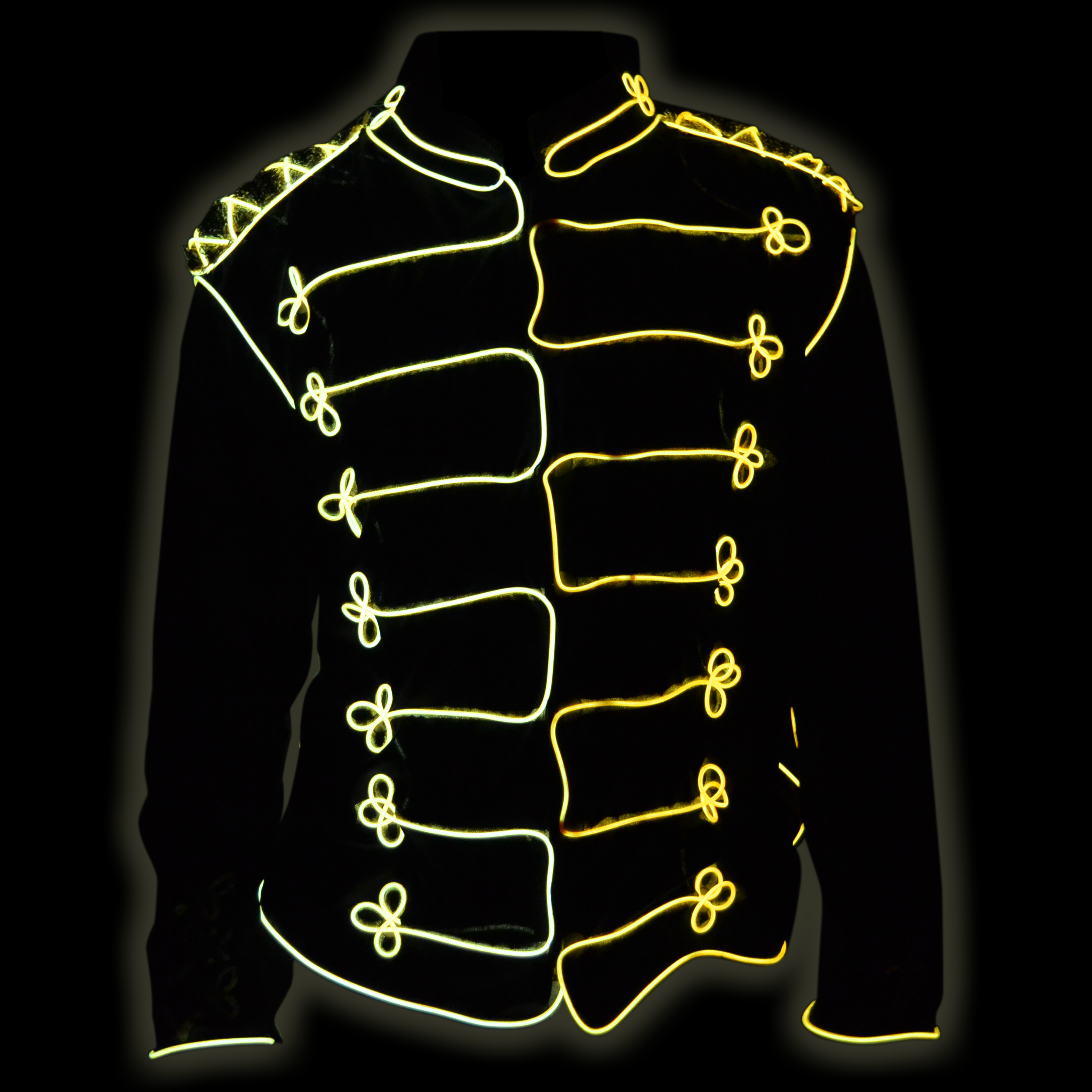 Picture of EZ-EL Wire Michael Jackson Costume! Step-By-Step Tutorial