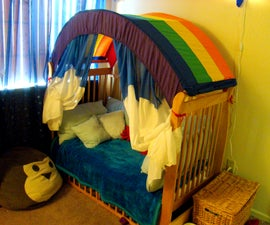 Make a Rainbow Canopy for Your Child's Room