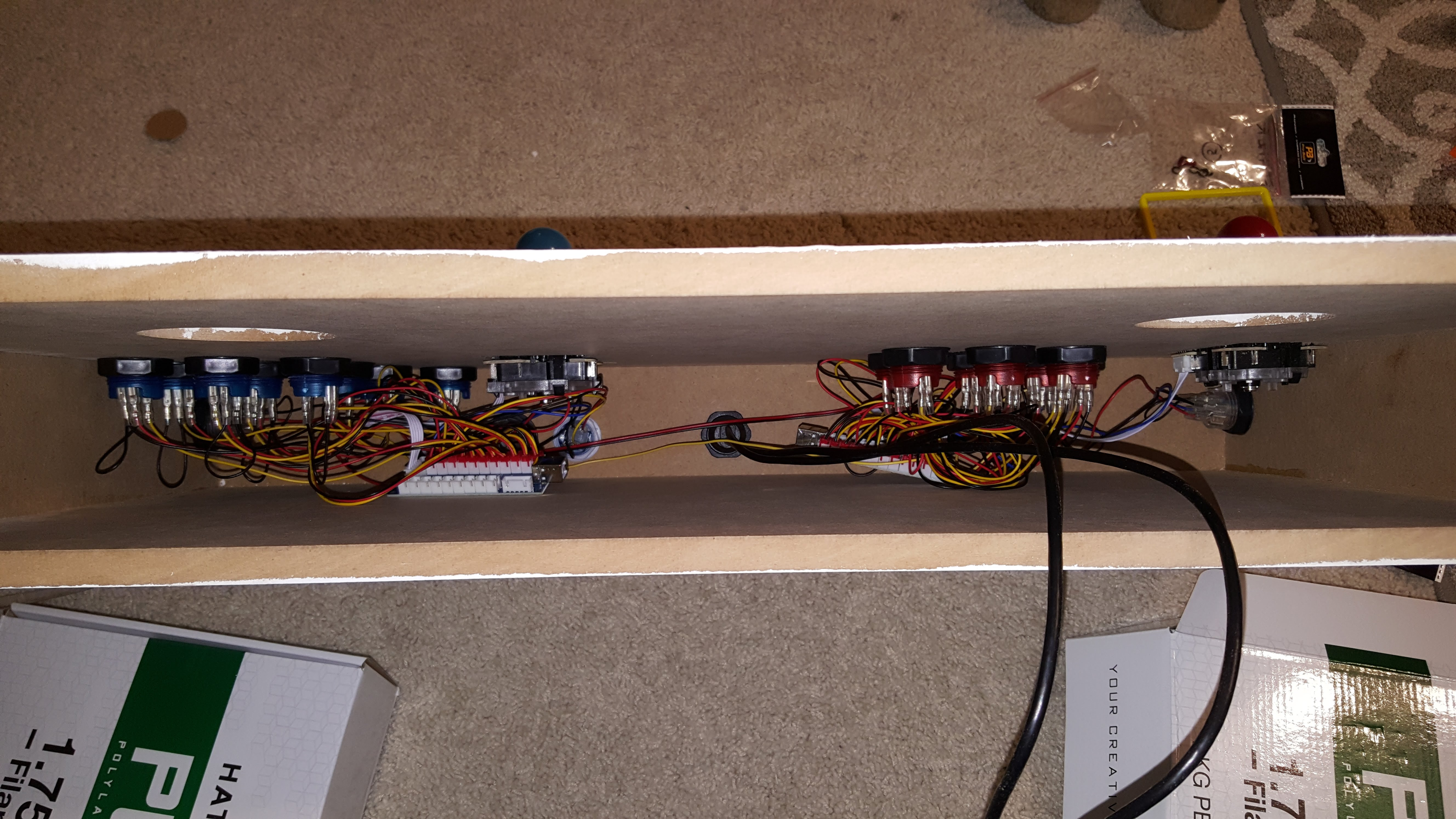 Picture of Installing and Wiring Up the Arcade Controls
