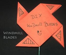 Pinwheel Using Paper and Paint Brush