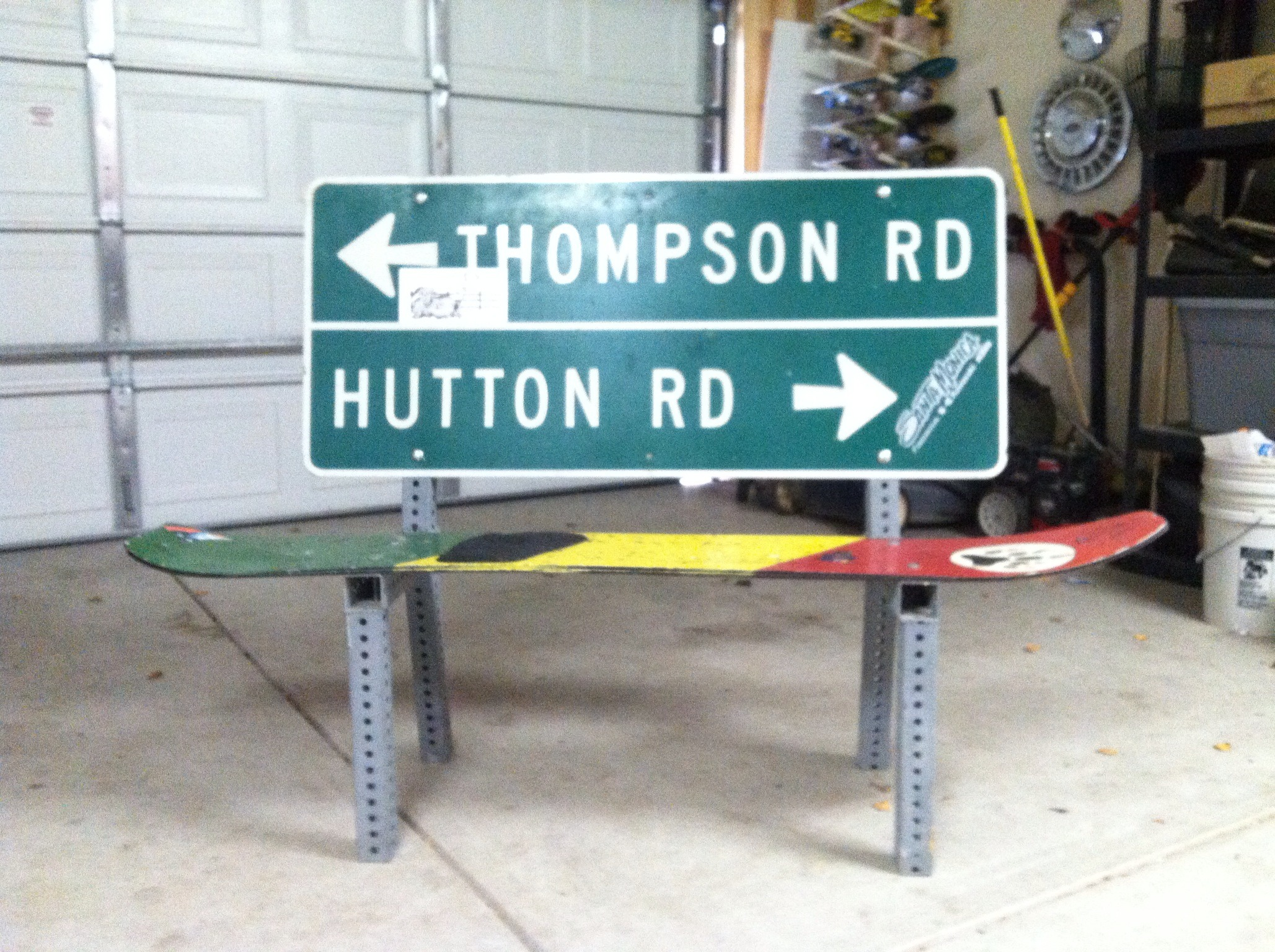 Picture of Road Sign/Snowboard Bench