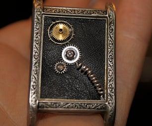 """""""Time-Lock"""" Steampunk Watch-case Locket"""