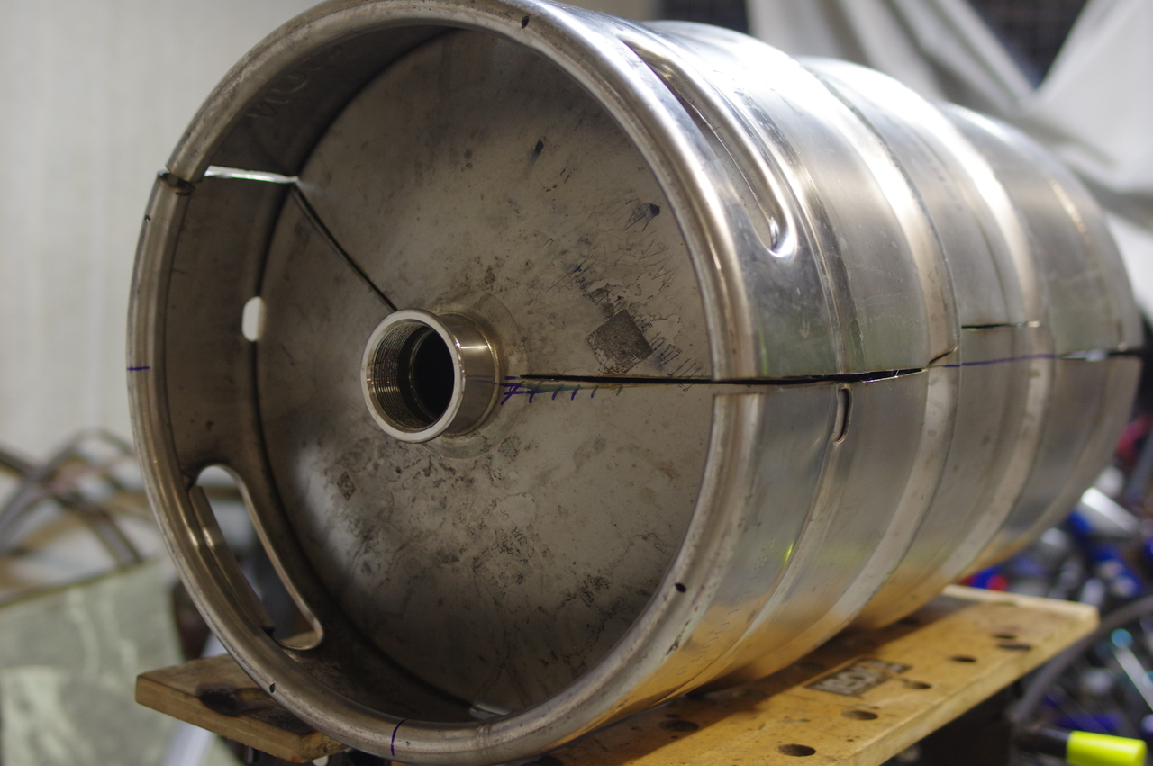 Picture of Get a Keg, Trace a Line and Cut.