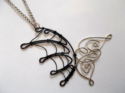 Angel and Demon Wings Pendant
