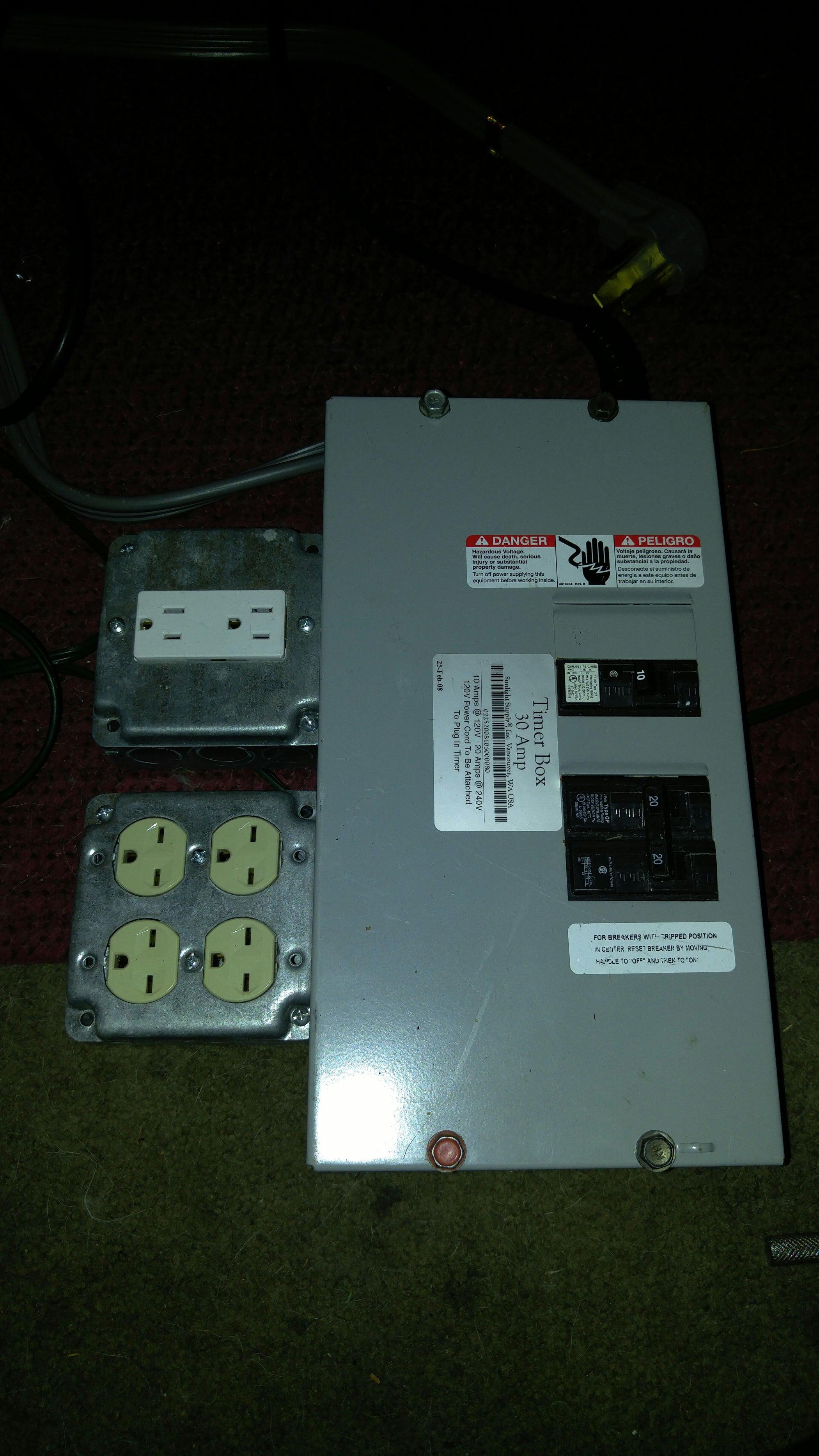 3 4 Wire 240v Multi Ballast Grow Timer 8 Steps Wiring Diagram
