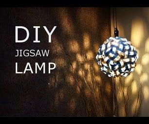 DIY Jigsaw Lamp