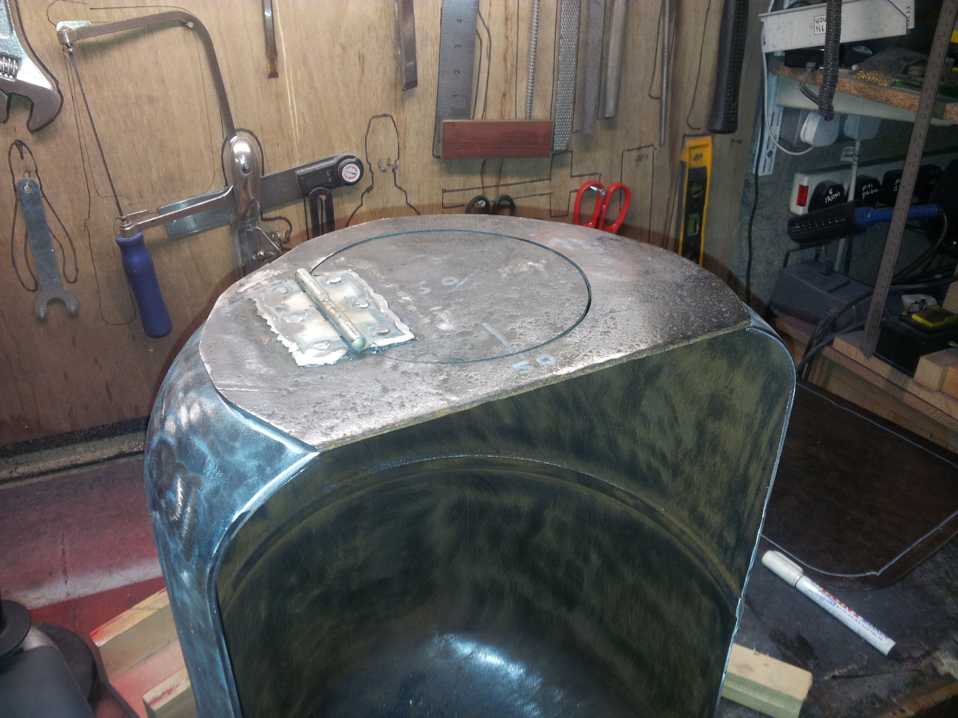 Picture of Weld Front Plate to Barrel
