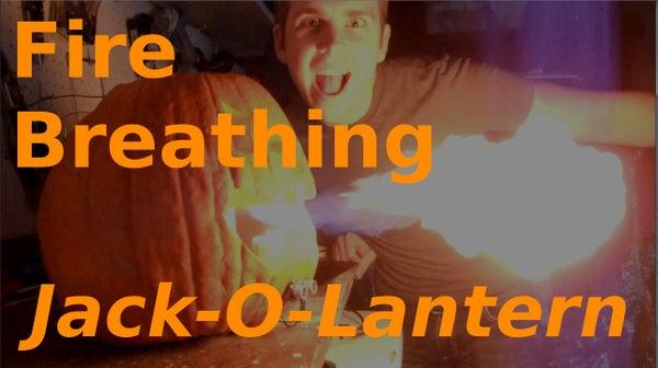 Fire Breathing Jack-O-Lantern