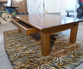 A simple coffee table out of wood