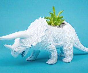 DIY Dinosaur Planters