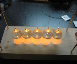 Lighted Newton's Cradle