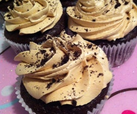 Chocolate Banana Cupcakes with Peanut Butter-Brown Sugar Frosting