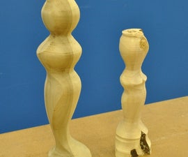 Eccentrically Turned Wood Figure