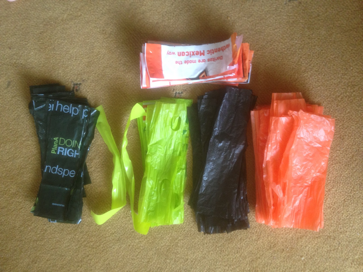Picture of Cut Plastic Bags Into Strips