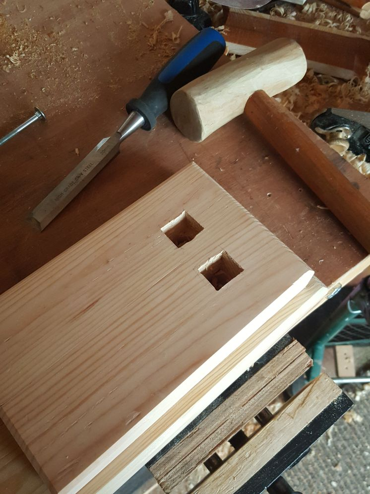 Picture of Mortise and Apply Finish.