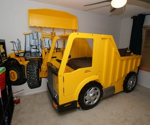 Building a Dump Truck Bed With Front Loader Book Shelf