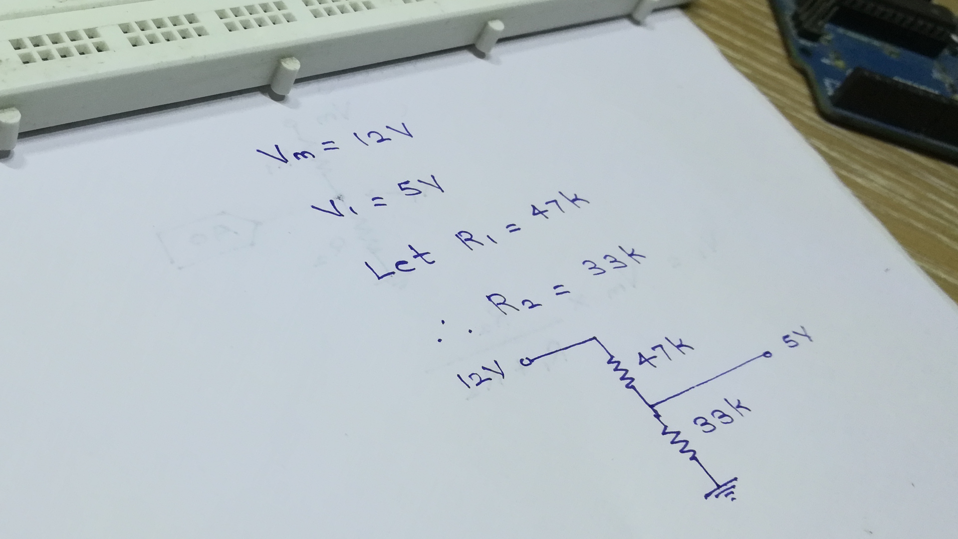Picture of Building the Voltage Divider
