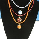 Marble and Metal Pendant Necklace (3 versions)