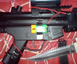 Add a laser sight to your airsoft/air rifle.