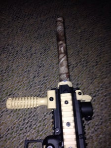 Camouflaged Paintball Gun Barrel Using Camouflage Duct Tape