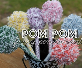 Fancy Pom Pom Pens!  A Great Holiday Gift for Kids to make!