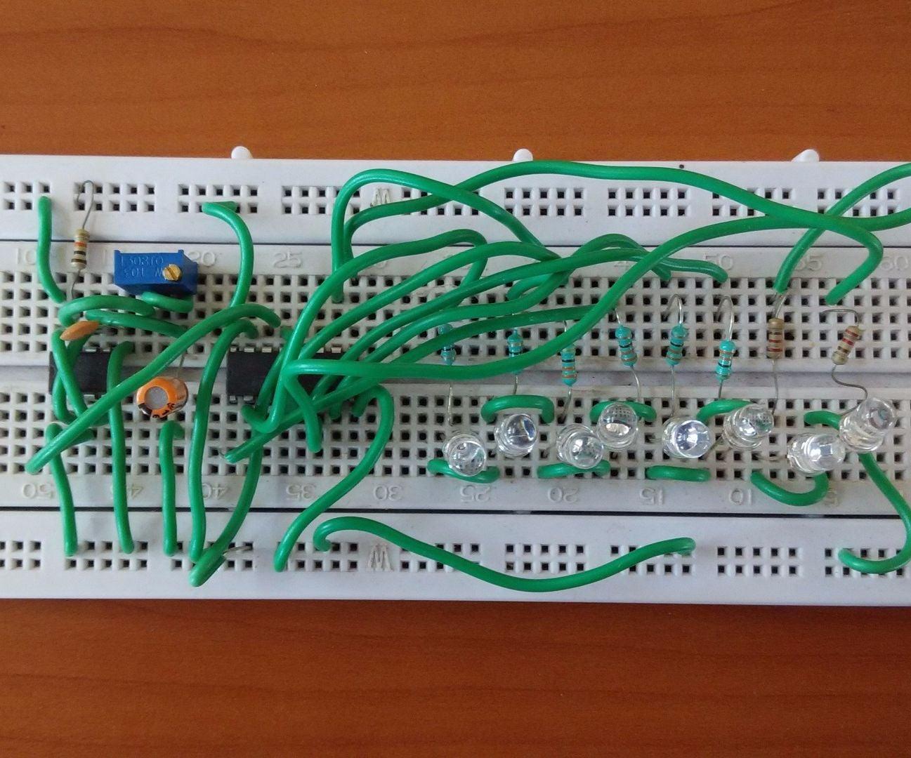 Running Light Chaser Circuit 3 Steps 8 Led Diagram
