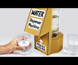 How to Make WATER Dispenser Machine From Cardboard DIY
