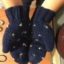 Hand-Knit Thrummed Mittens