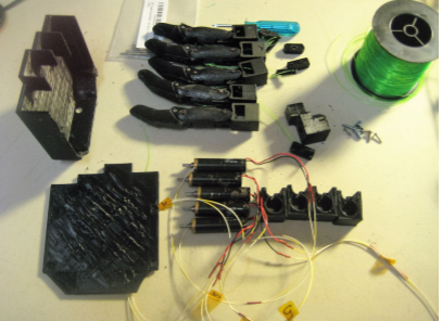 Picture of Build High Speed Hand - 3-D Print Parts and Assemble Other Parts