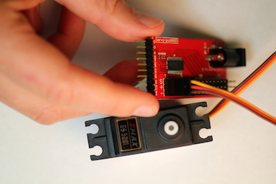 Picture of Plug in the Servo to the Module