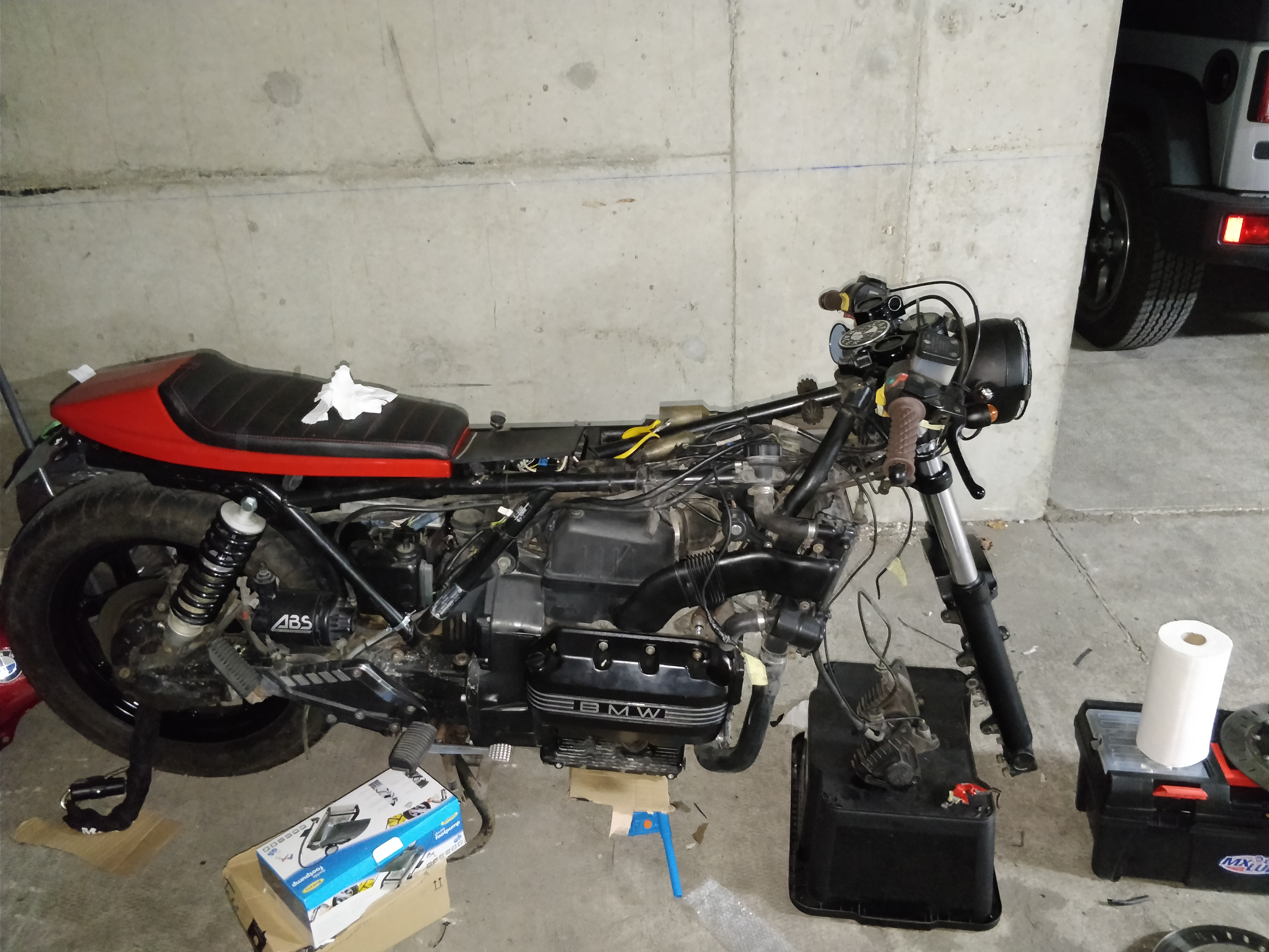 Picture of Fit All the New Parts on the Bike: Be Creative! There Is Always a Way!