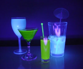 TRON inspired glow in the dark drinks