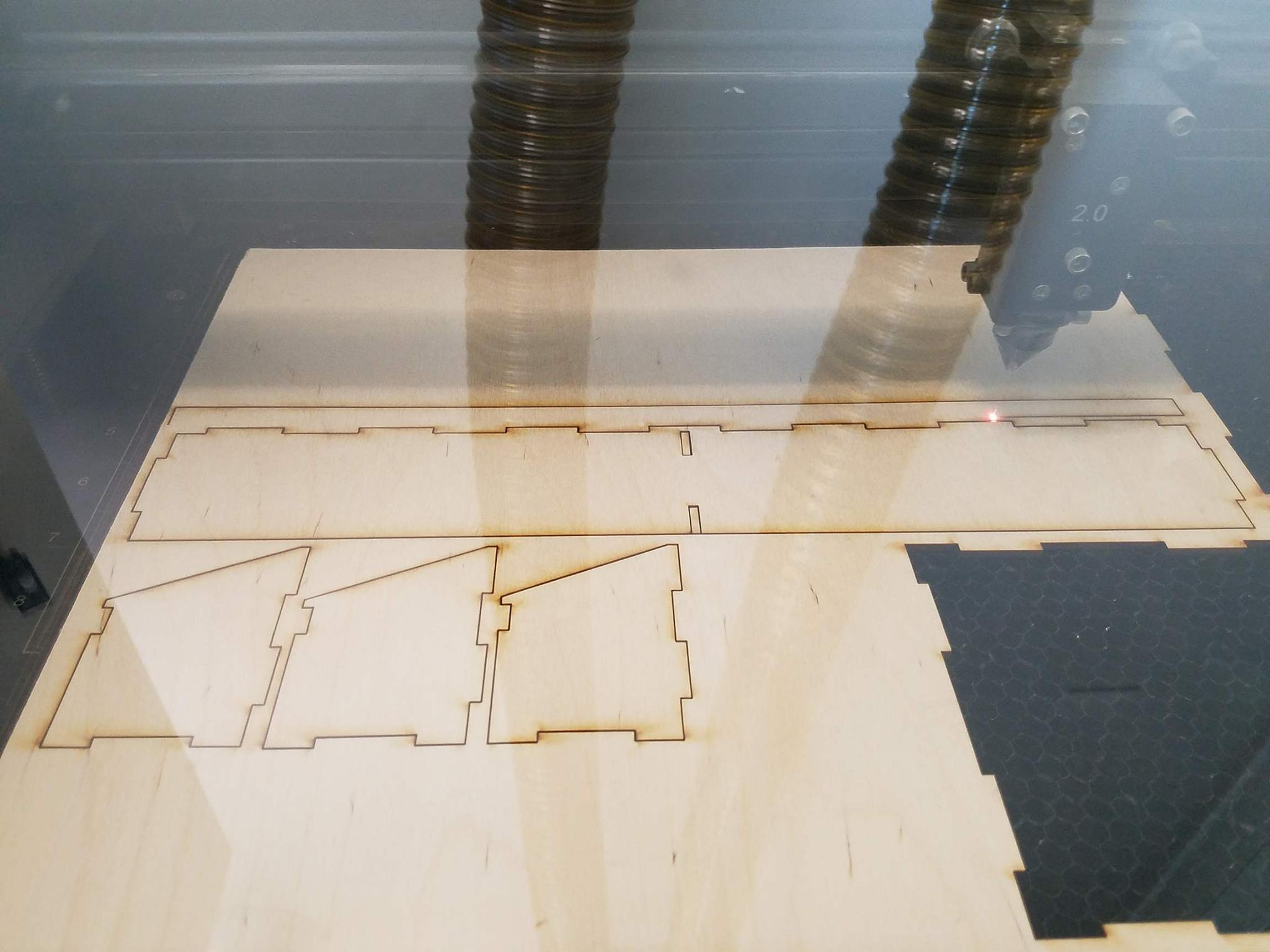 Picture of Laser Cutting the Pieces Out