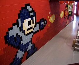 Mega Man 8-bit Mega Mural from Ceramic Tiles