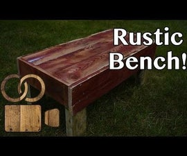 Make a Rustic Pallet Wood Bench