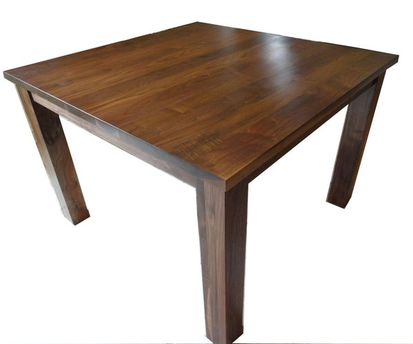 Easy to Build  Walnut Dining Table