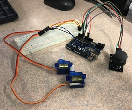 Controlling 2 Servos With Joystick on Arduio UNO