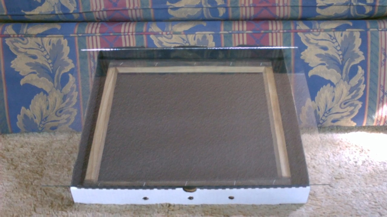 Picture of Solar Food Dehydrator - Easy (Pizza Box) Design!