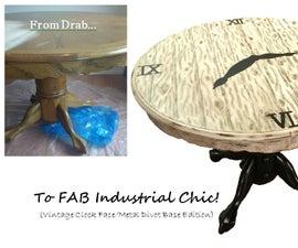 DIY Industrial Chic Table Transformation!