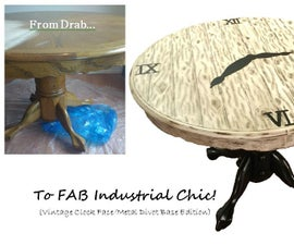 DIY Industrial Chic Table Transformation!