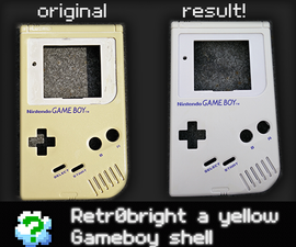 Retr0bright, how to turn a yellow Gameboy white again: The EASY way!