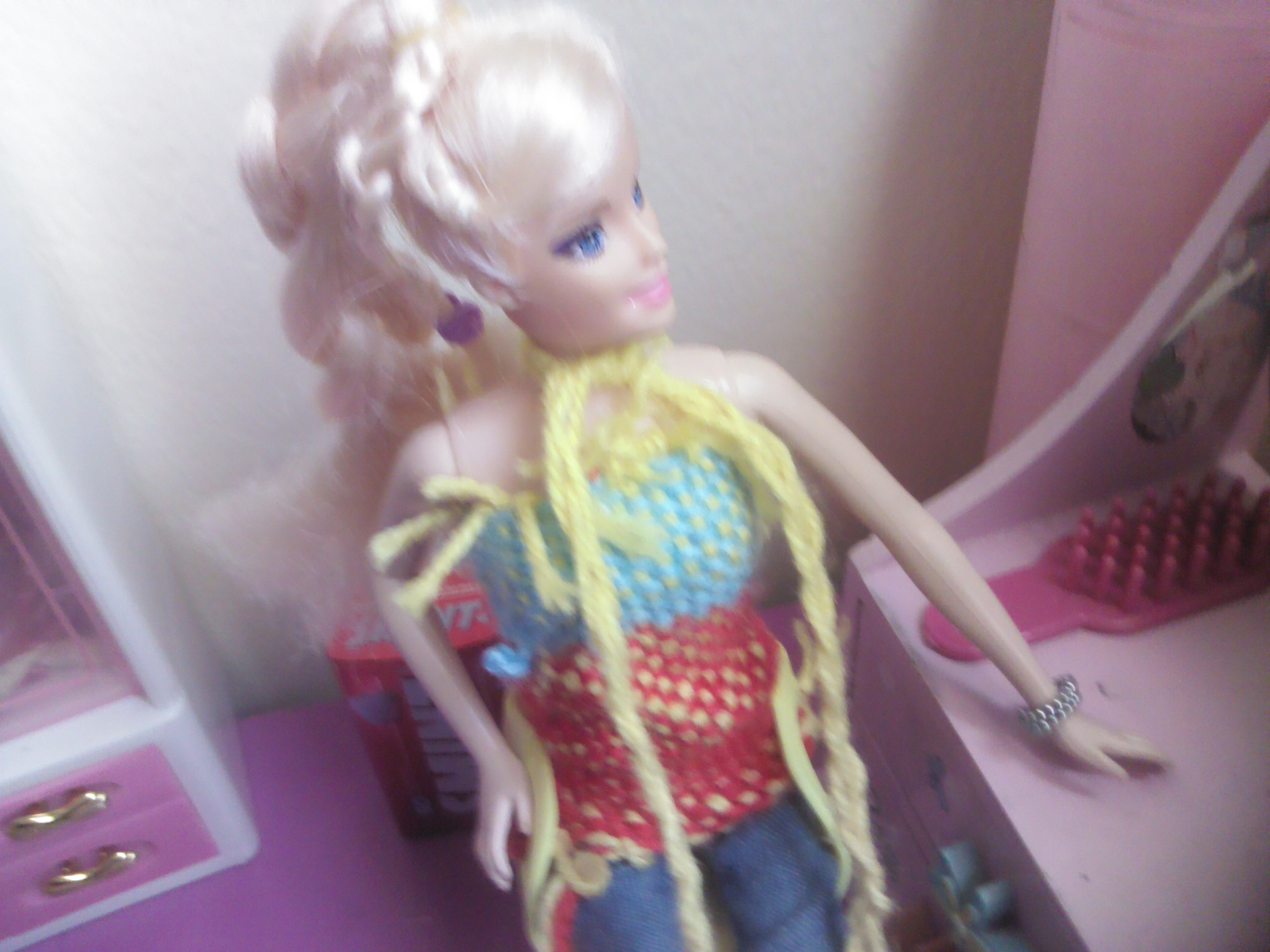 Picture of Doll Shirt and Scarf Made Out of Wool!