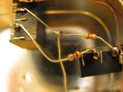Attach First Resistor to Outer Tab (Left Channel)