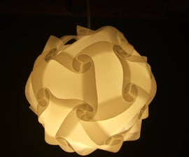 Universal lamp shade polygon building kit