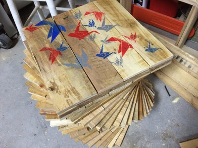 Pallet Wood Table With Hidden Cooler