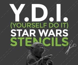 DIY Star Wars T-Shirt Stencils